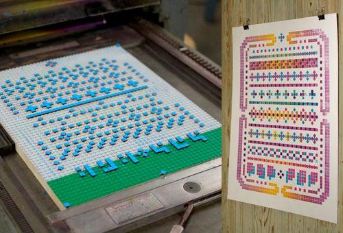 O Crank Up the Old-Timey Lego Letterpress Machine
