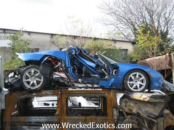 Tesla Roadster Has Fastest Crash Yet In France