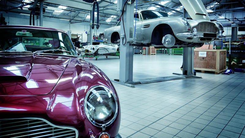 Aston Martin's Heritage Showroom Looks Like Candy Land