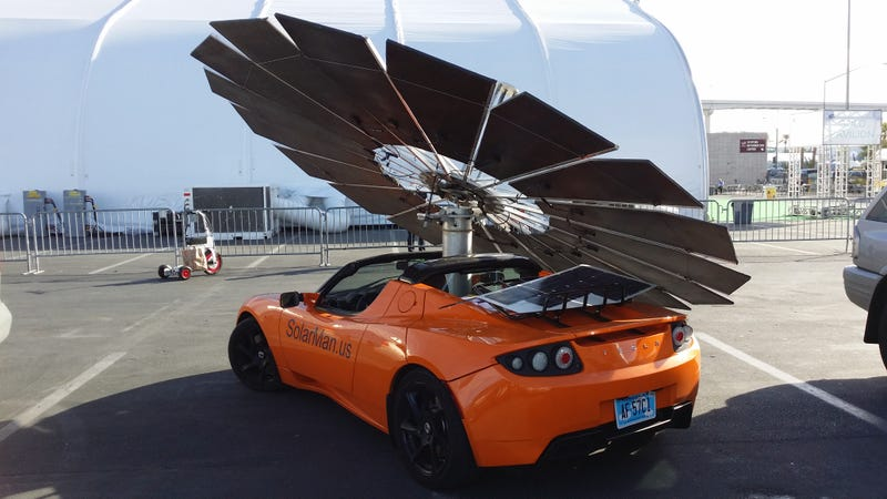 Solar Powered Tesla at CES