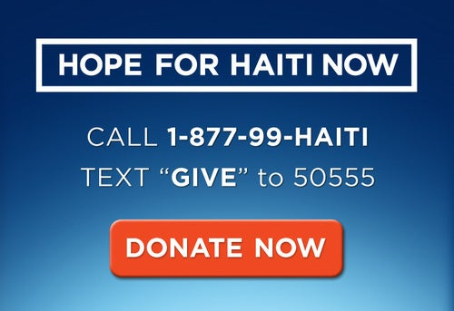 Livestream of the Hope for Haiti Now Telethon