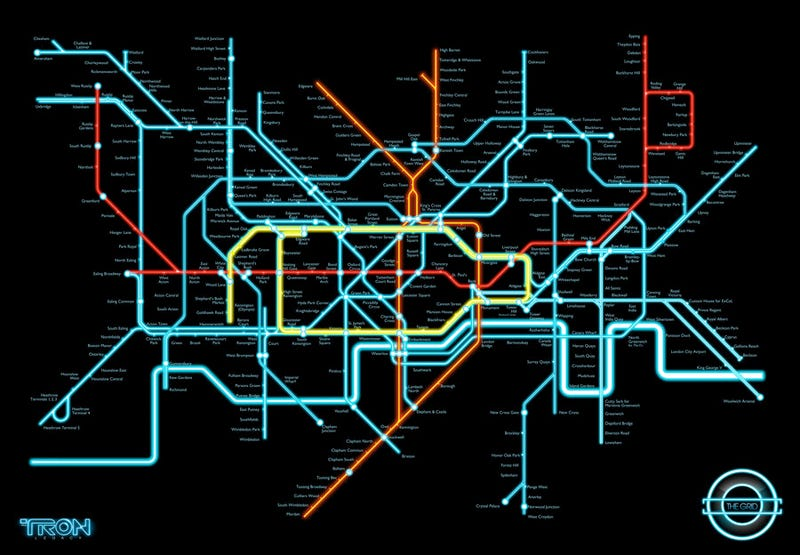 If Only the London Underground Trains Went as Fast as Tron Light Cycles