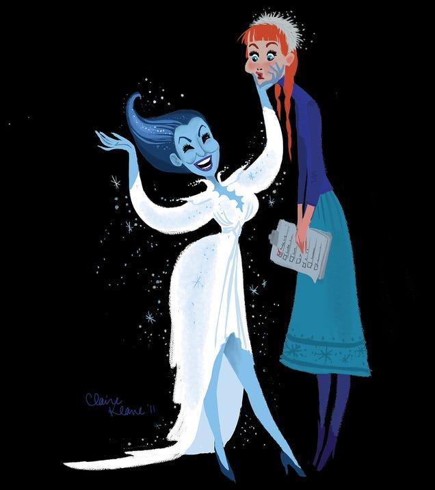 Elsa inspired by Bette Midler