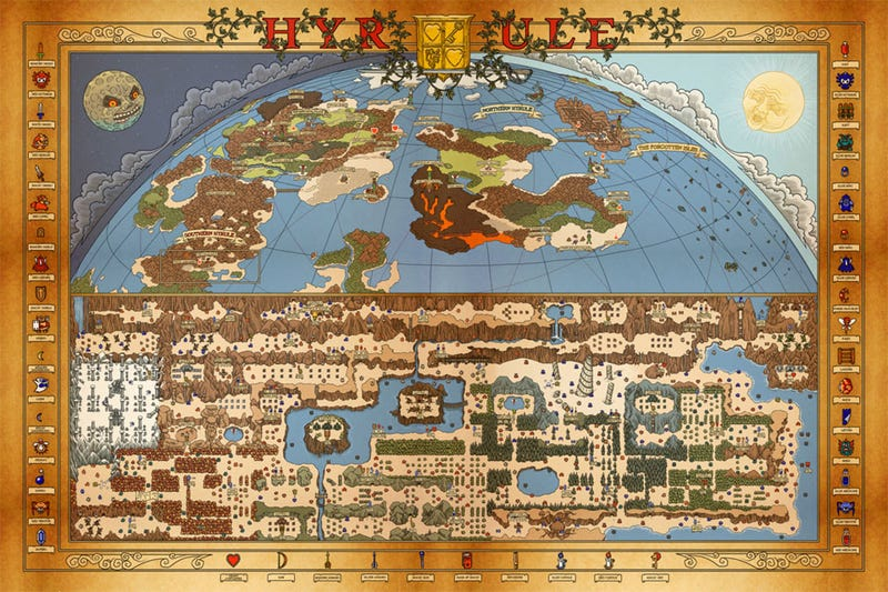 A Map Fit For The Legend Of Zelda