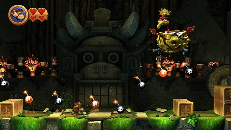 50 Deaths In Donkey Kong Country Returns, In One Sitting