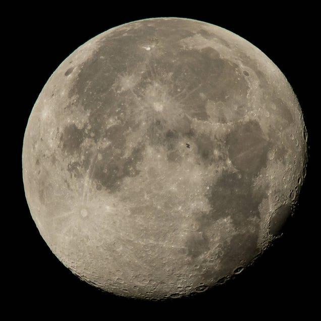 Can You Spot the International Space Station As It Crosses the Moon?