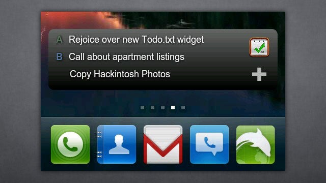 Todo.txt Touch for Android Adds Home Screen Widget, Tap to Call Support