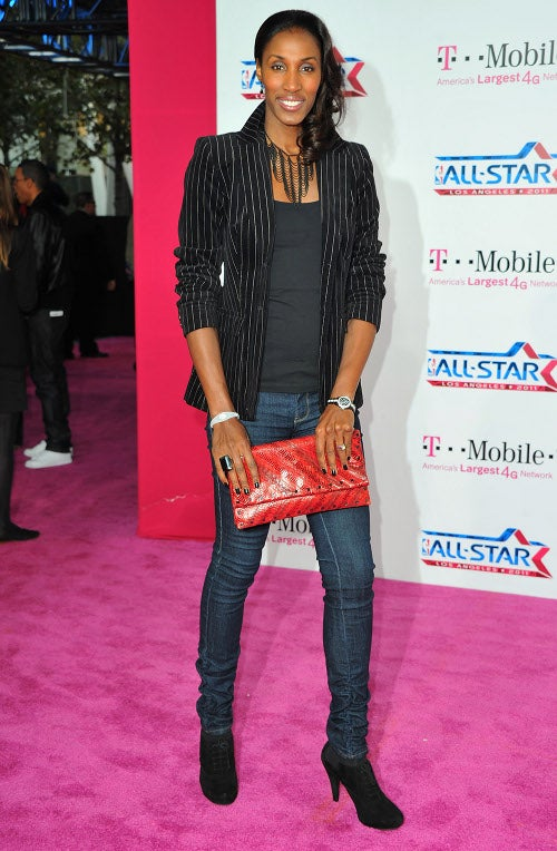 "NBA All-Stars On The ""Magenta Carpet"""