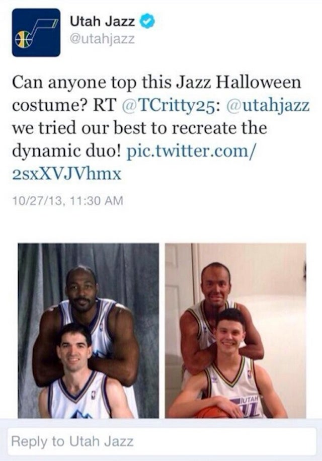 The Utah Jazz Tweeted A Photo Of A Blackface Karl Malone