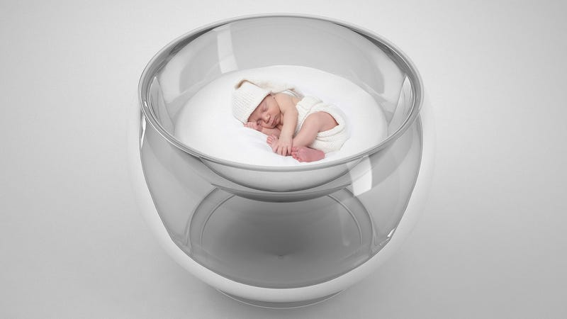 Transparent Bubble Crib Makes Your Bundle of Joy Look Like a Science Experiment