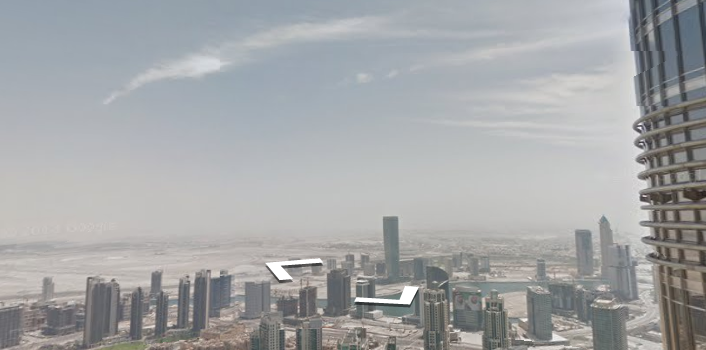 Burj Kahlifa on Street View: The World's Tallest Building, Inside Out