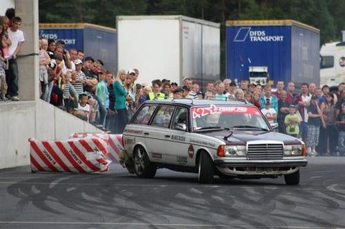Black Smoke Racing Mercedes In Action