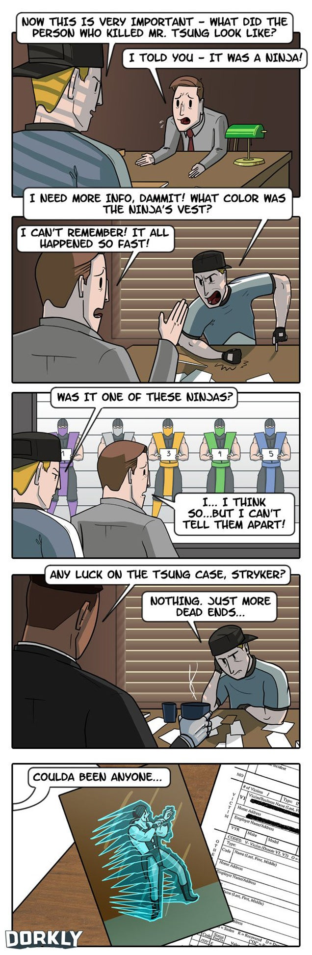 It's Not Easy To Be A Cop In Mortal Kombat