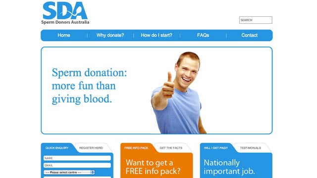 Australian Sperm Donation Site Gets Right To The Point