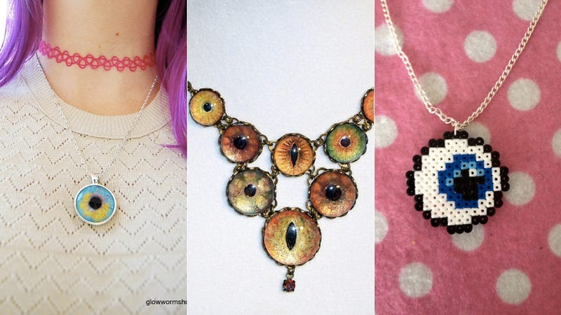 The very best fancy eyeball jewelry for a macabre night out