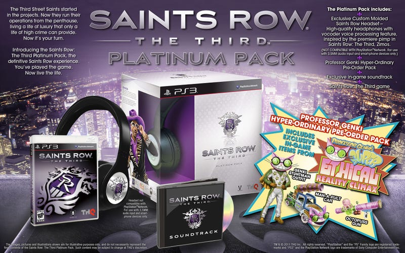Professor Genki Wants You to Preorder the Platinum Edition of Saints Row: The Third