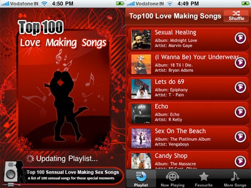 iPhone App 'Top 100 Sensual Love Making Sex Songs' Now Available For Budding Caligulas