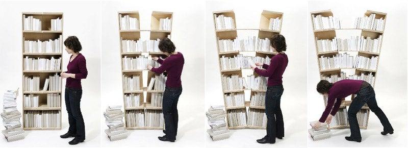 Platzhalter Bookshelf Splits To Store Extra Books