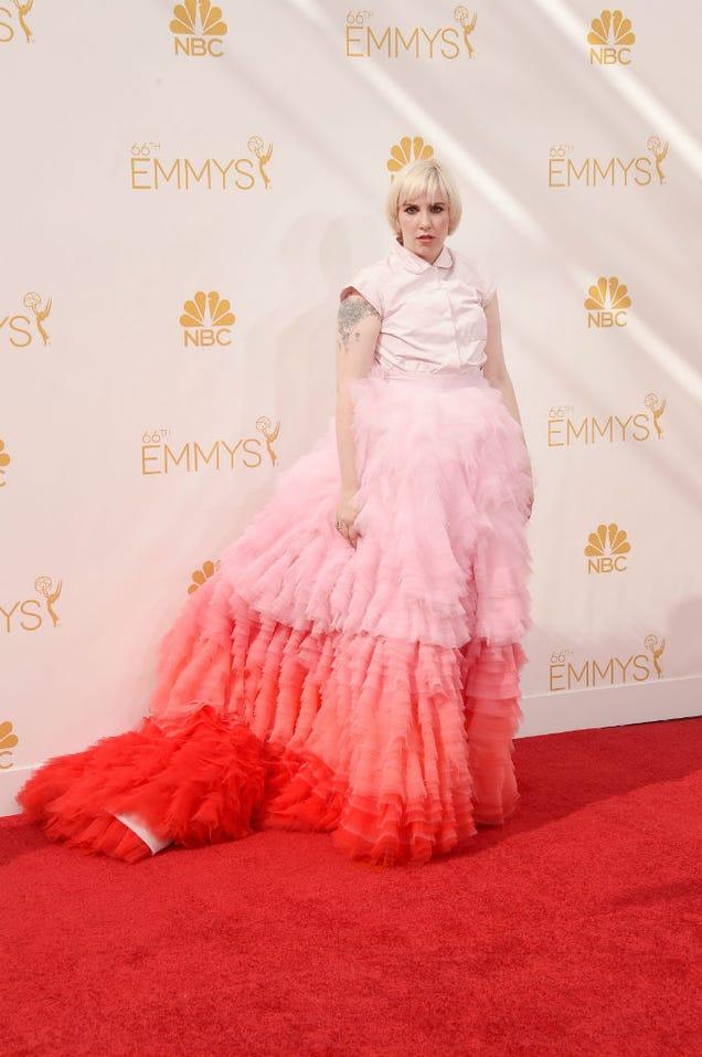 Lena Dunham Wore Giambattista Valli at the Emmys