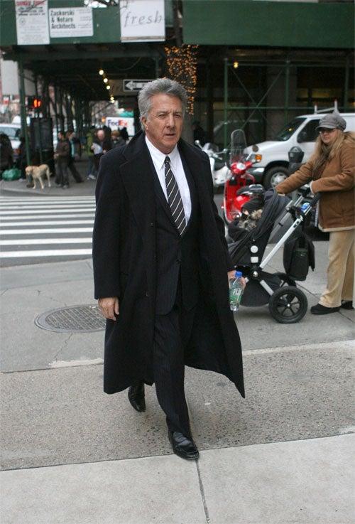 Dustin Hoffman Narrowly Avoids Stroller Sideswipe