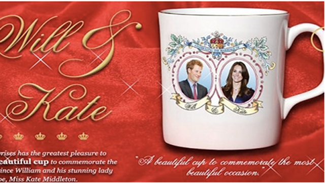 Excellent Souvenir Mug Has Kate Marrying Harry