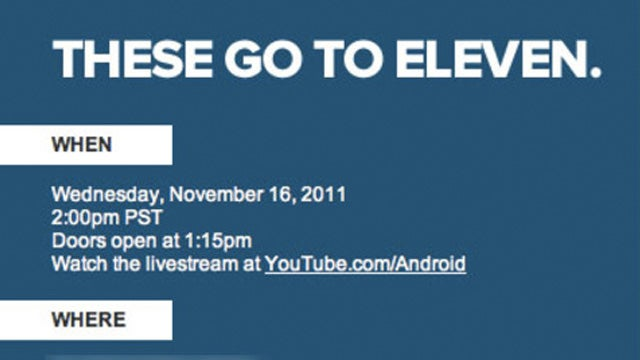 November 16 Google Music Event Will Apparently Go to Eleven