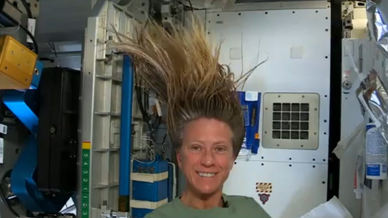 Watch an Astronaut Wash Her Hair in Zero Gravity