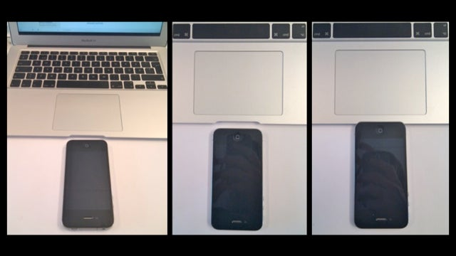 The iPhone 4 Fits Exactly Inside the MacBook Air's Lid Dent