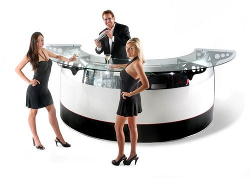 Obviously, a Bar Made of a Boeing 747 Engine Attracts Girls In the Skimpiest Dresses