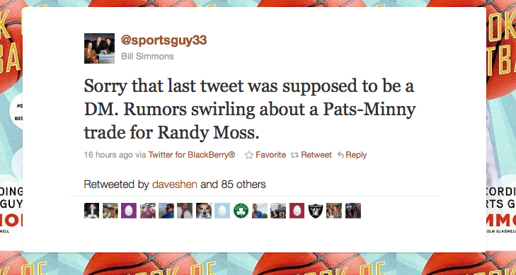 How A Bill Simmons Tweet Ended Up With Randy Moss Being Traded