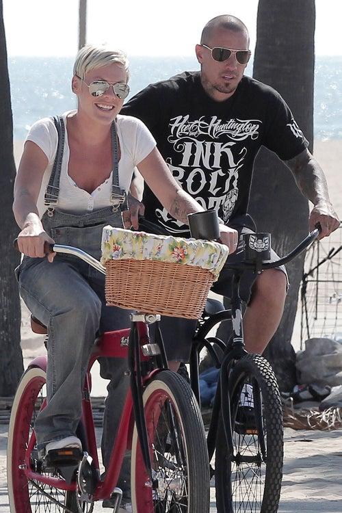 Pink & Carey Put Their Wheels In Motion