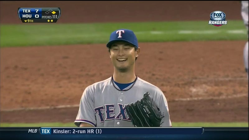 Here's How Rangers Broadcasters Reacted To Yu Darvish Blowing His Perfect Game With A Single Out Remaining