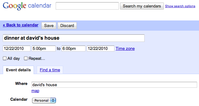 Add Events to Google Calendar From Your Browser's Address Bar