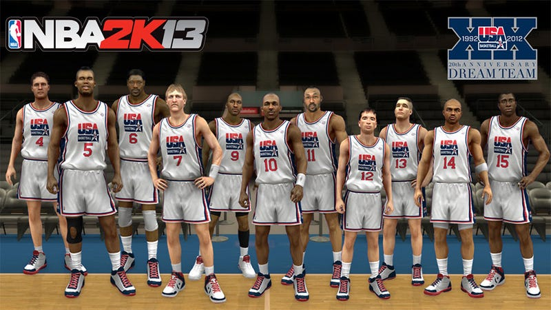 Michael Jordan and the Dream Team Meet the 2012 Gold Medalists in NBA 2K13