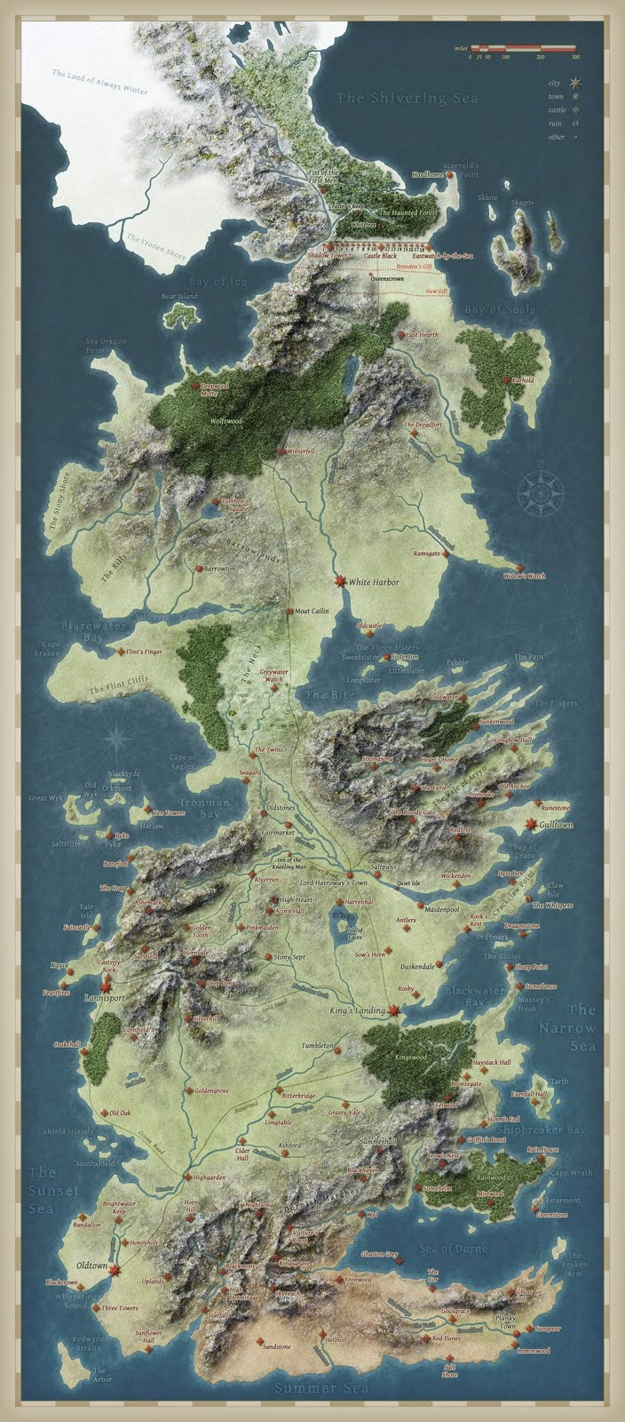Mapping the Seven Kingdoms