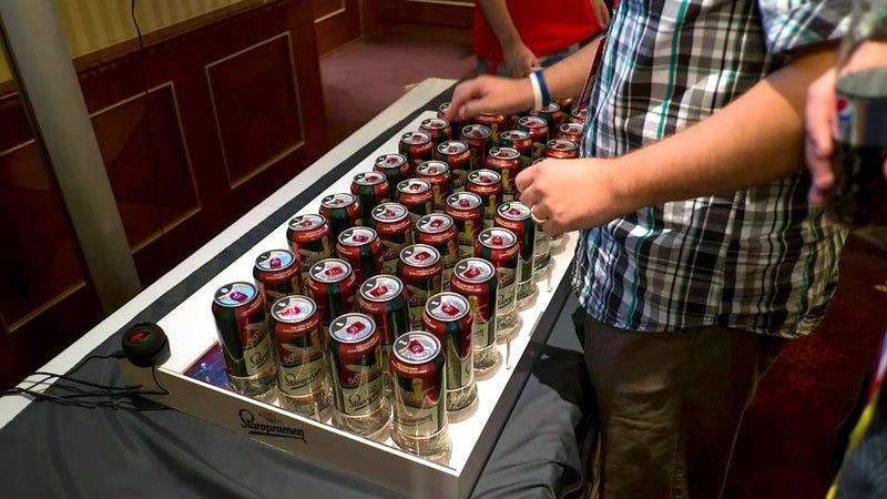 Imagine the Drunken Emails You'll Send With a Beer Can Keyboard