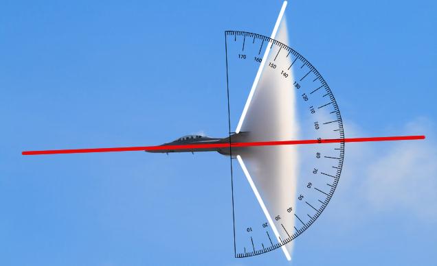 La velocidad de un caza según su cono de condensación