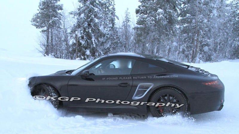 2012 Porsche 911 Prototype Stuck In The Snow
