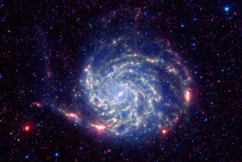 This Beautiful Galaxy Is Shrouded In Death