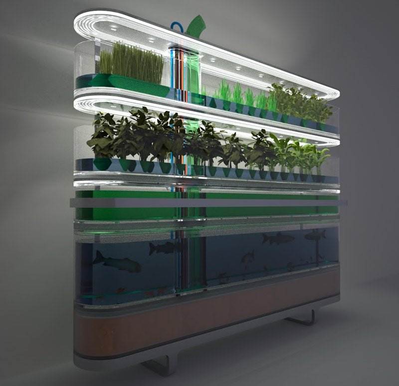 Philips Biotower Puts Farming in the Kitchen (With Style)