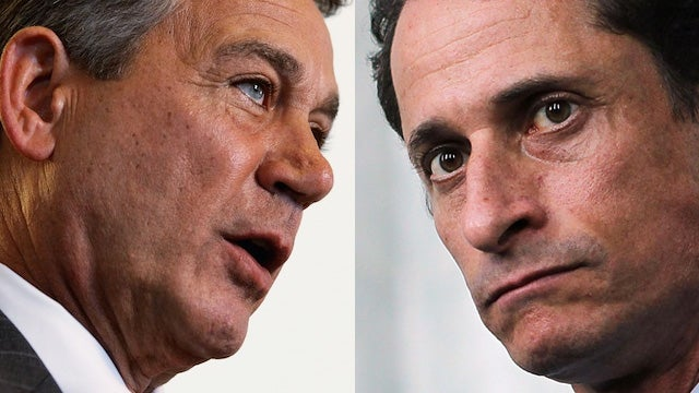 Boehner Calls for Weiner's Resignation as Entire Nation Snickers