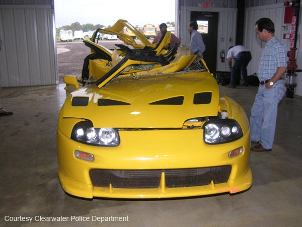 Police Photos From Nick Hogan Supra Crash Released, Still P***y Magnet Yellow
