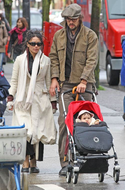 Lisa Bonet's Cute Baby, Big-Handed Husband