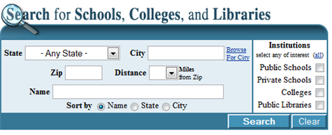 Search for schools with the IES Global Locator
