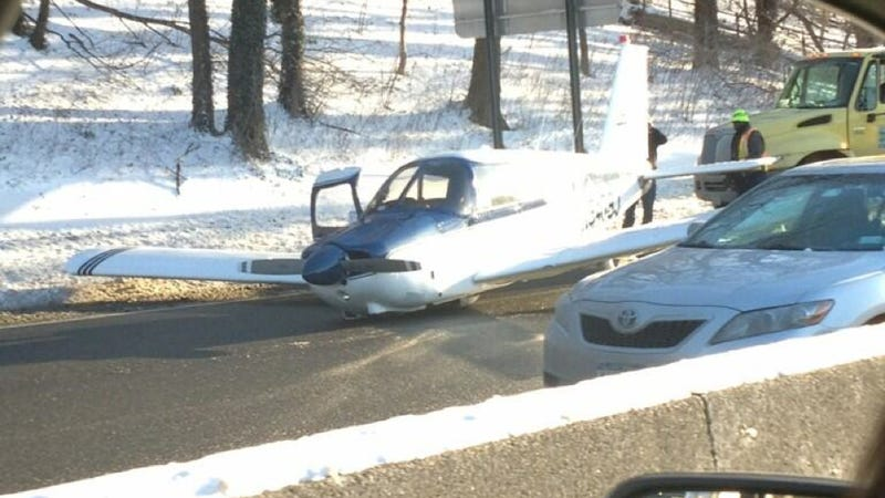 A Plane Just Landed On A Highway In New York City