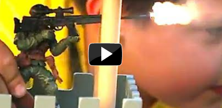 Watch Toy Soldiers Blast Live Ammo at Real People
