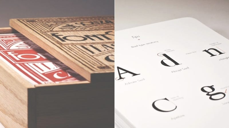 Boost Your Typophile Street Cred With These Beautiful Font Flashcards
