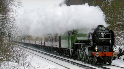 Antique Steam Engine Rescues Passengers After Electric Trains Fail in the Bitter Cold