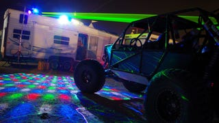 The Mojave Desert Like You've Never Seen: Lit Up With Lasers And Fire