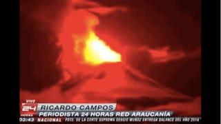 Kitört egy tűzhányó Chilében